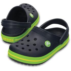 Crocs Crocband Clogs Niños, navy/volt green